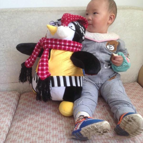 40cm Amigos serios El amigo de Joey HUGSY Peluche PENGUIN Rachel Stuffed Doll para regalo de cumpleaños