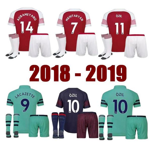 2d570cf11 2019 OZIL Arsenal adult Soccer Jersey 18 19 AUBAMEYANG Home Away LACAZETTE  11 TORREIRA Shirt 8 RAMSEY Uniform Team