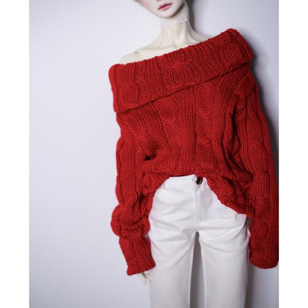 BJD DOLL pull rouge lâche tenues vêtements haut pour 1/4 17