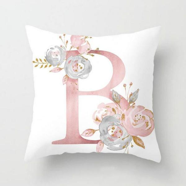 Nova Rosa carta Capa de Almofada Decorativa Fronha Sofá Assento Caso Car Fronha Macia Bed Fronha