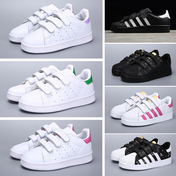 Acheter Adidas Superstar 2018 Enfants Super Star Blanc Hologramme  Iridescent Junior Enfants Superstars 80 Fierté Garçons Filles Baskets  Superstar ...