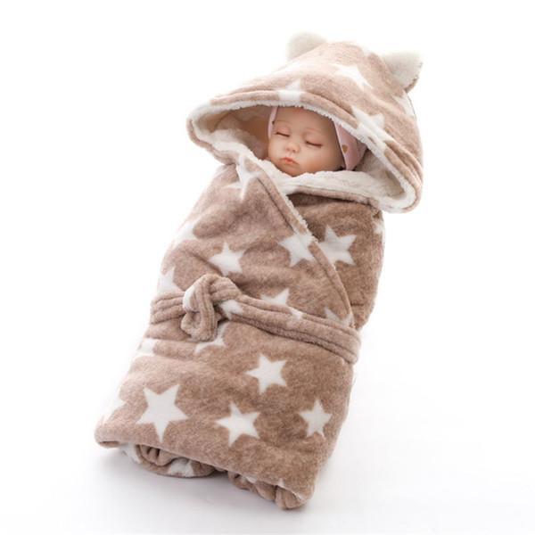 Baby Blanket For Bedding Stroller Super Soft Warm Infant Boys Girls Sleeping Bag Swaddle Wrap Manta Bebes Newborn 0-8 Months