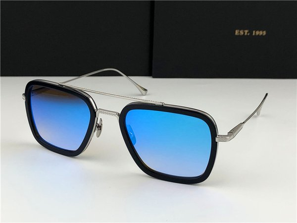 lentille bleue argent