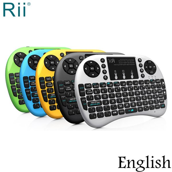 Original Rii i8+ Backlight Mini 2.4GHz Wireless Keyboard Air Mouse with TouchPad for Android TV Box/Mini PC/Laptop