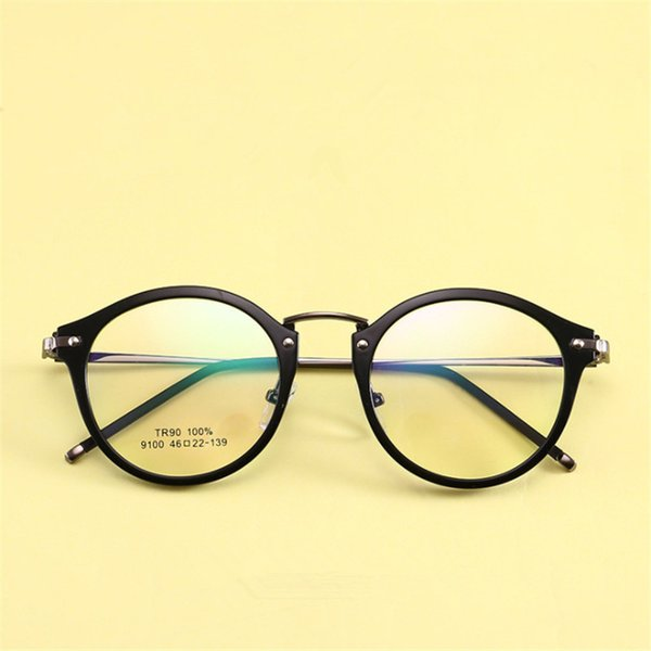 1cd41a9bd3 Gafas tr90 ultraligeras Gafas con montura de miopía Piernas finas de metal  Gafas circulares Gafas graduadas