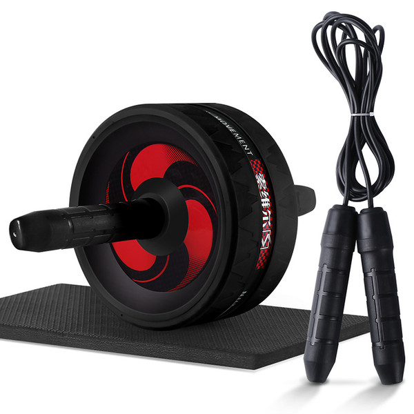 best selling 2 In 1 Abdominal Exercise Wheel & Jump Rope No Noise Ab Wheels Abdominal Exercise Rollers with Mat for Fitness