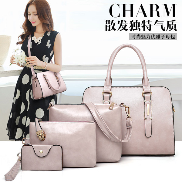 Charismatic2019 New Autumn Pattern Child And Mother Package Four Paper Set Woman Handbag Single Shoulder Satchel European Fashion Shell