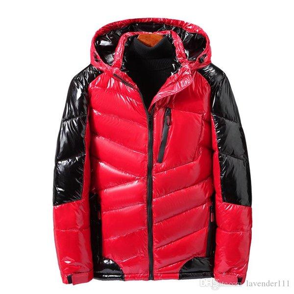 Homens Jacket Coats Engrossar casaco quente casacos de inverno coreano Moda roupas de homem Masculino Parka com capuz Outwear algodão acolchoado
