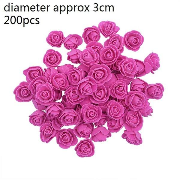 Kırmızı-200pcs F04-rose
