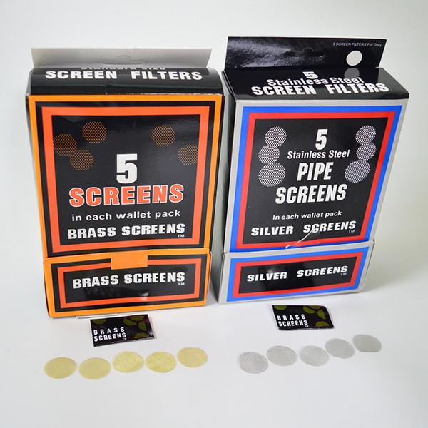 Le filtre métallique en acier inoxydable de tuyau d'écran en laiton d'acier inoxydable d'accessoires de tabagisme filtre le diamètre d'or de 20mm pour des cuvettes de tabac outils 500pcs / lot