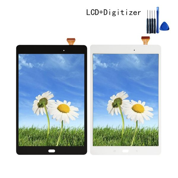 Per Samsung Galaxy Tab A 9.7 SM-T550 T550 T551 T555 Lcd Display Touch Screen Digitizer Strumenti gratuiti Nero Bianco