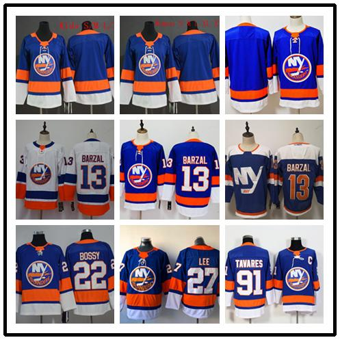 top popular 2019-2020 Stitched adlads New York Islanders Blank #13 BARZAL #22 BOSSY #27 LEE #91 TAVARES Blue Hockey Jerseys Ice 2019