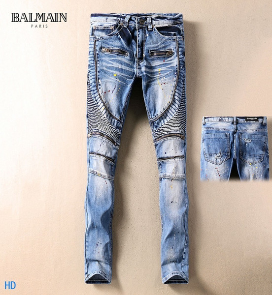 2019 New Fashion Design For Men High Quality And Exquisite Korean Edition Jeans Embroidery Slim Casual Small Straight Foot Trousers 10