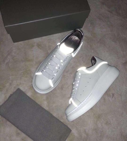sports shoes e7200 9970d Großhandel 2019 Übergröße M Marke Reflektierende New Runaway Italien Luxus  Schuhe Höhe Erhöhen Luxus Männer Und Frauen Schuhe Größe 35 44 Mit Box Von  ...