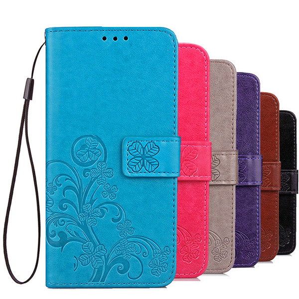 Luxury PU Leather Case For Sony Xperia 1 10 Plus Wallet Cover Flip Card Holders Bag Silicone Cases