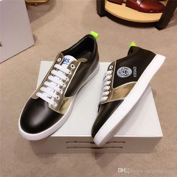бренд новое качество топ класса люкс для мужчин женщин Повседневная обувь из натуральной кожи Walking спортивный тренер Мода Досуг Run Sneaker с коробкой 36