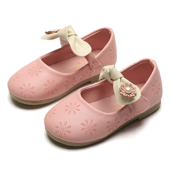 Kids Girls Princess White Wedding Shoes Children Baby Girl Shoes Pu Leather Flat Sneaker Dance Shoes Party Casual Footwear Red Leather Baby Shoes