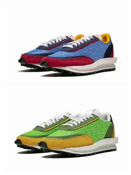 New Sacai LDV chaussures de course Waffle Daybreak pour homme de femme designer vert Gusto Varsity chaussures de sport d'entraîneur bleu avec