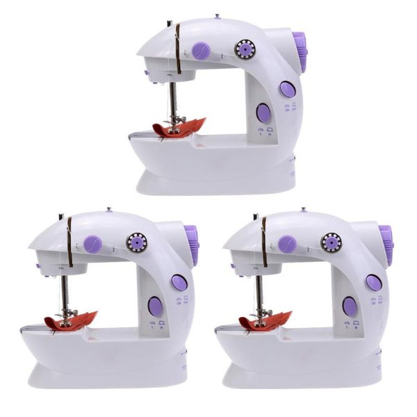 Mini Electric Handheld Sewing Household Machine Dual Speed Adjustment Light Foot AC100-240V Double Threads Pendal Sewing Machine