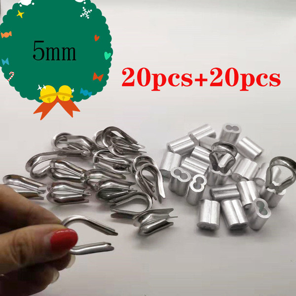 20pcs M1.2 Double Hole Aluminum Sleeves For Wire Rope 1.2MM