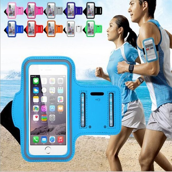 New Waterproof 5.5 inches Sports Running Case Workout Holder Pouch For Iphone 6/7 Plus Cell Phone Arm Bag GYM Band l1231 #304236