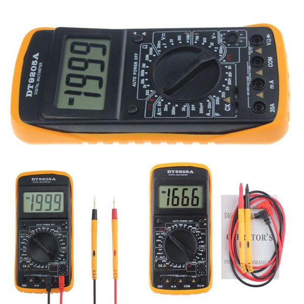 Waterproof LCD Display Tester Multimeter device Voltage Current Tester Professional Portable Digital Electric Handheld