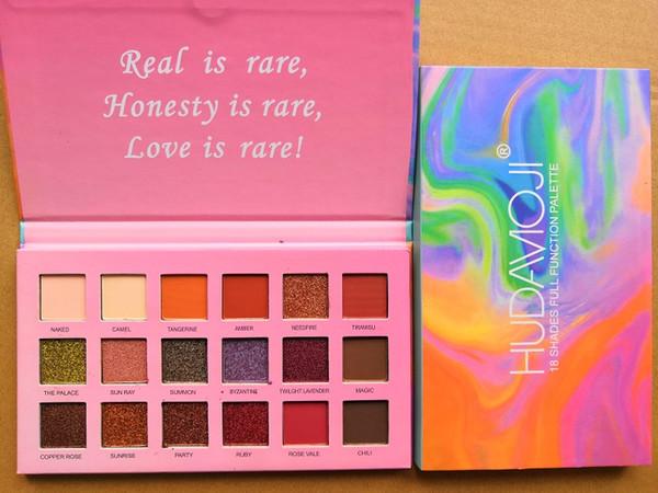Nueva marca de maquillaje hudamoji 18 colores de sombra de ojos paleta Shimmer mate sombra de ojos maquillaje paleta cosméticos para los ojos naturales
