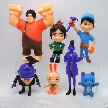 Best gift 7pcs/set Ralph Breaks the Internet New Ralph Breaks the Internet Movie Cartoon Action Figure Novelty Items toy for kids gift