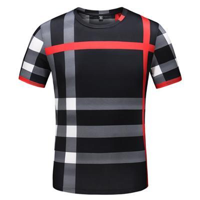 Marca de Moda Designer top Quality T Shirt Hip Hop Itália Das Mulheres Dos Homens Roupas Casuais em torno do pescoço Letras de Algodão Impresso T de Luxo camisas 43