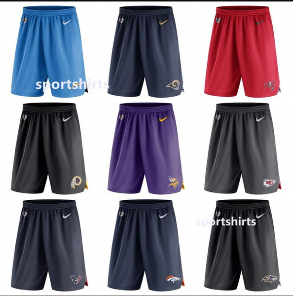 best selling Angeles Minnesota Denver Baltimore Tampa Men bay Ravens Broncos Vikings Rams Knit Performance Shorts