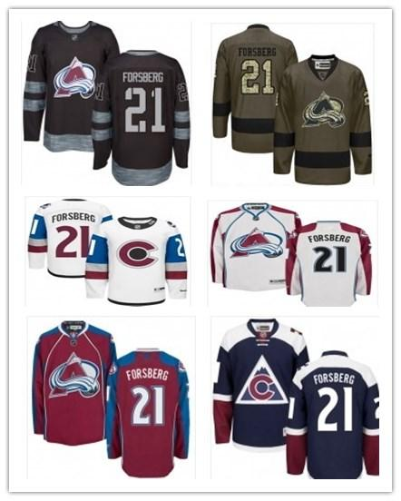 official photos 00e85 bad2f 2019 2019 Hockey Jerseys Colorado Avalanche Men/Women/Youth Best 21 Peter  Forsberg Jersey Custom Name And Number Free Ship Baseball Wear From ...