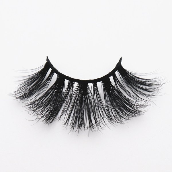 LON-44 long 25mm mink eyelashes 3D fluffy strip lashes 5D thick dramatic false eyelashes volume curly free one pair soft