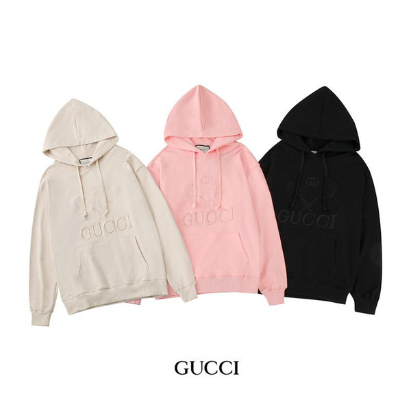 top popular Autumn Womens Hoodies Fashion Embroidery Loose Hoodies Casual Mens Womens Pullover Clothing 2020