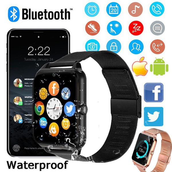 Smart wearable device Z60 smart Bluetooth watch stainless steel support SIM card TF card camera fitness tracker smart sports watch for IOS A