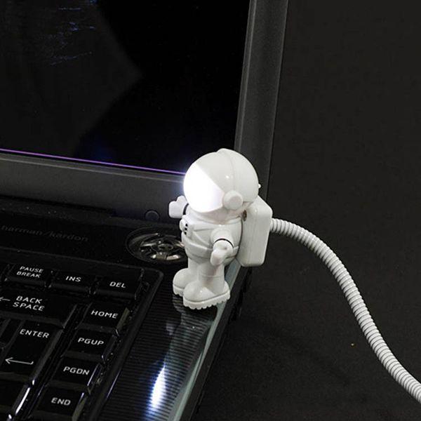 Spaceman Astronaut USB Tube LED Nachtlicht Lampe für Computer Laptop PC Notebook Lesung tragbare JK0017A