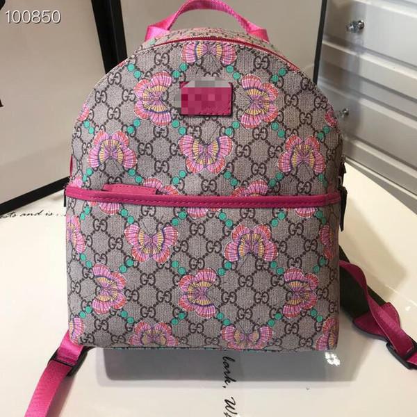 Çocuklar Kızlar baskı kelebek sırt çantaları moda PVC Çantalar çocuk güzel çanta