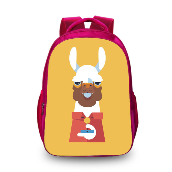 New Hot Red 3D Backpack Alpaca Cute Fashion School Backpacks for Children Shoulder Bags for Women Men Boys Hot Search