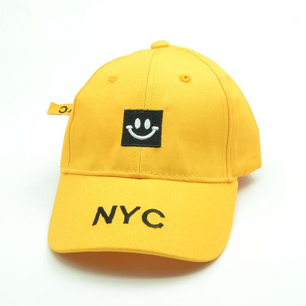 6652ff061a0 NYC Kids Baseball Cap Boys Snapback Hats Hip Hop Caps Baby Girls Summer  Cartoon Embroidery Sun hat