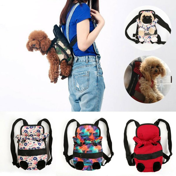 Security puppy mall dog carrier travel front back backpack carrying pouch bag