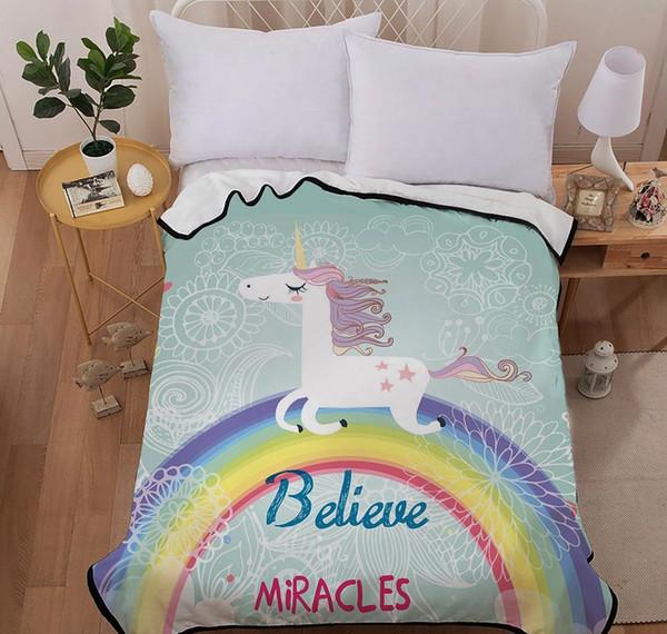 Surprising Unicorn Throw Blanket For Beds For Bed Car Sofa Super Soft Blanket Cover For Kids Girls With Blue Rainbow Unicorn 2019 New Design Dark Red Throw Frankydiablos Diy Chair Ideas Frankydiabloscom