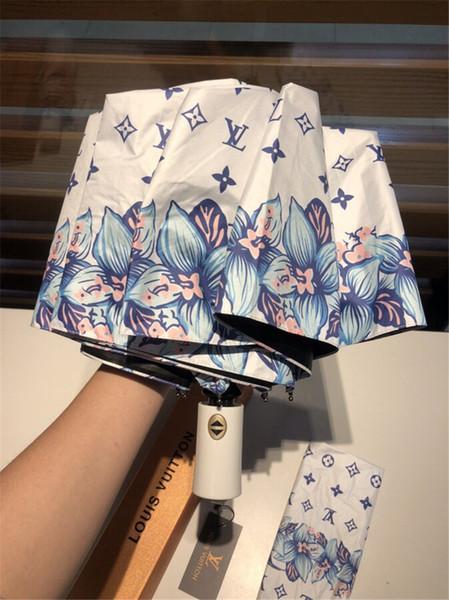 Sınır Çiçek Tasarım Şemsiye Yeni Tam Otomatik Kız Şemsiye Yağmur Güneş Gün Şemsiye Moda Yenilik Öğeleri Ultraviyole dayanıklı Şemsiye
