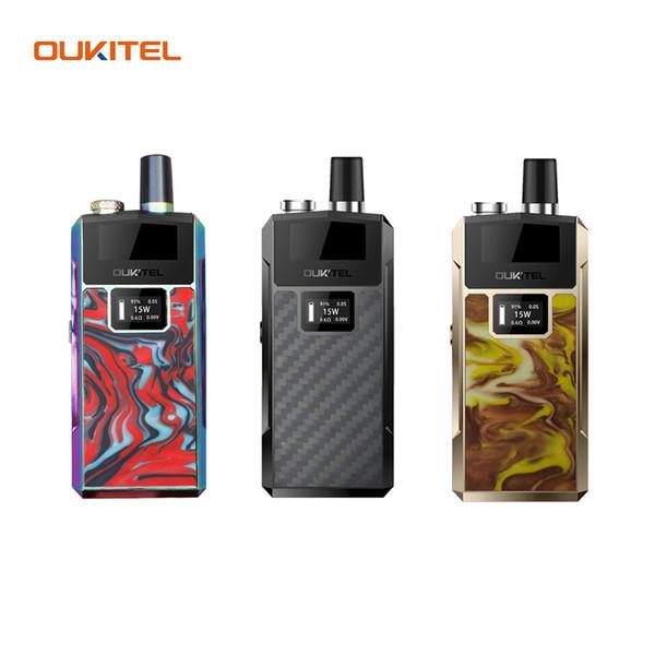 Oukitel Bison Vape Starter Kit LED Screen Display 1000mAh 2ml Capcity Pod Cartuccia compatibile con NicSalt e olio denso 100% autentico
