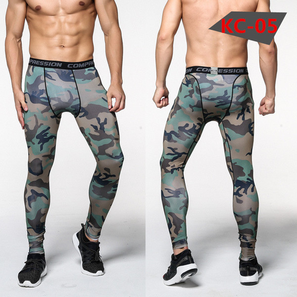 New Camouflage Pants Men Compression Pant Elastic Sweatpants Lifting Bodybuilding Skin Tights Trousers Brand Clothing Pantalon