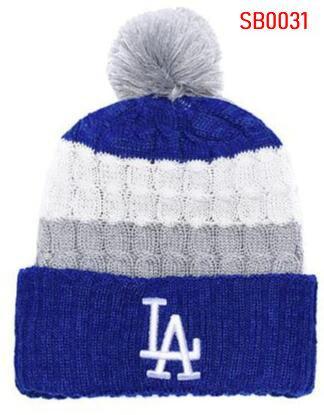check out a4e82 736de 2019 Winter Los Angeles Beanie LA beanies Skull Hat Men women Knitted Beanie  Wool Hat Man Sport Knit hat Bonnet Warm Baseball Skull Cap 00