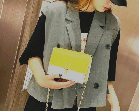 2019 лето новая маленькая женская сумка корейской версии g прилив дикий диагональный крест сумка плеча цепи 66526419648