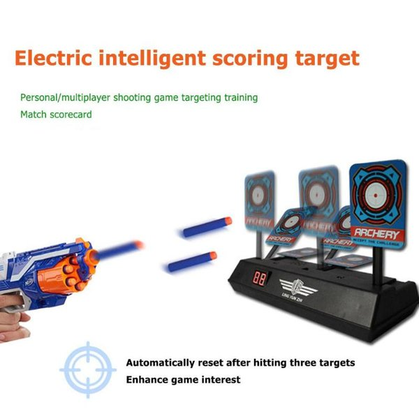 Precision Scoring Auto Reset Electric Target Sound Light Smart Score Target for Kids Shooting Game Gun Toy Accessories