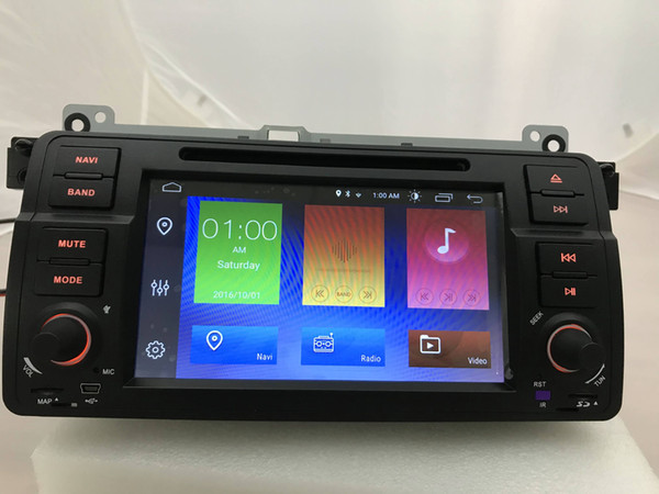 AutoRadio 1 Din Android 9.0 DSP Car DVD Player For BMW E46 M3 318/320/325/330/335 Rover 75 1998-2006 GPS Navigation BT Wifi