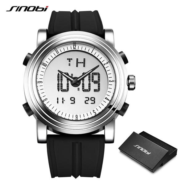 Relogio masculino Sinobi Hombres Digital Hombres Cronógrafo Relojes de Pulsera Impermeable Ginebra Cuarzo Reloj Reloj Deportivo C19041001
