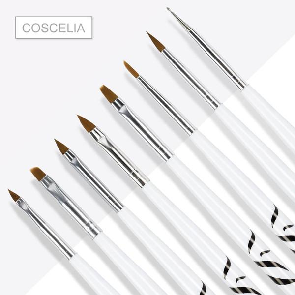 polishing brush 8PCS/1Set Zebra Nail Art Dotting Manicure Painting Drawing Polish Brush Pen Tool Brushes for Manicure