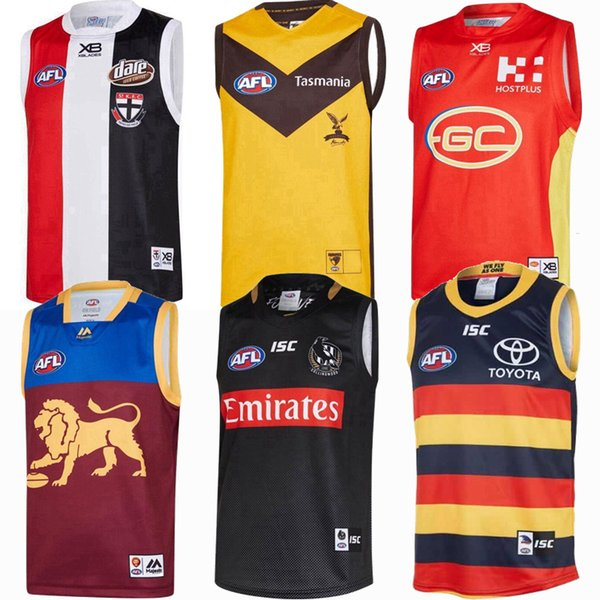 top popular 2019 2020 2021 Fremantle Dockers Richmond Tigers Giants Cats Essendon Tasmania Coast Lions Rugby Jerseys AFL jersey League shirt vest 2020